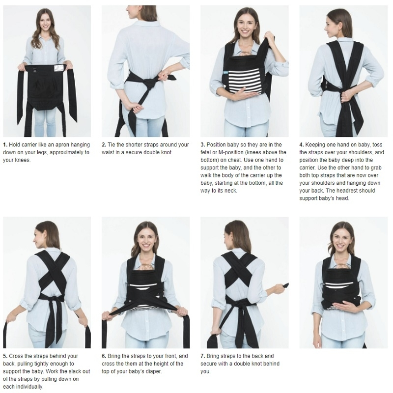 Moby Double Tie Baby Carrier 2 Colours Moby M O Brand